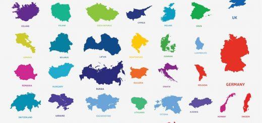 silhuete držav