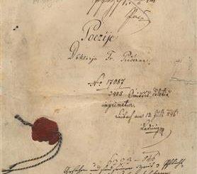 Prešernove Poezije - rokopis