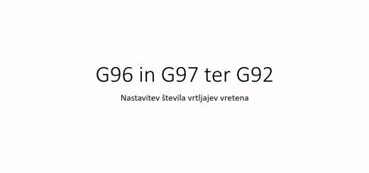 WinNC - Struženje - G96, G97 in G92