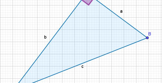Slika pravokotnega trikotnika